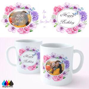 Personalised Happy Birthday Mug Cup Gift Present Mother Mum Auntie Nanna Grandma