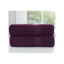 Loom Naturals 30% Viscose Bamboo 70% Cotton 4Piece Bath Towel set-Purple Oxford