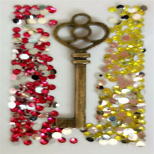 W215 New Bronze key 3D DIY Mobile Cell Phone Case Alloy Crystal -Deco Den Kit