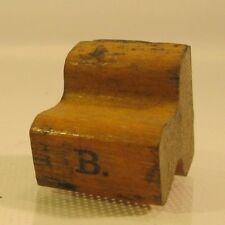 "Vintage Rubber School Desk Office Letter Stamp Wooden Handle 1-1/16"" ""B"""