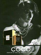 Publicité ancienne Parfum Coco de Chanel issue de magazine