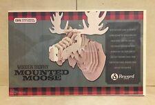New Mounted Moose Head 3D Wood Jigsaw Puzzle Wall Mount DIY Decor Kit Taxidermy