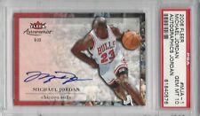 pop 1 - 2006 Fleer Autographics AUTO #MJA-1 Michael JORDAN PSA 10+++ HOF Bulls
