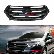 Fit for Ford Edge 2015 2016 2017 2018 Front Grille Gloss Black With Camera Hole