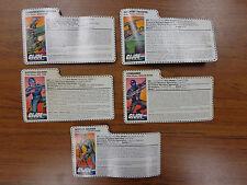 GI Joe 1997 Stars and Stripes Forever File Card LOT of 5