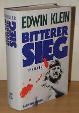 EA SIGNIERT Edwin Klein - Bitterer Sieg | Thriller Roman Krimi Hardcover signed