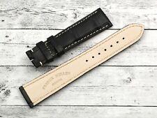 Watch Strap Frank Muller Black Crocodile Size Case 0 3/4in Black Matt Elegant