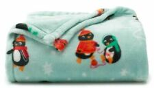 New The Big One Penguin Plush Throw Blanket Mint 5x6 Oversized