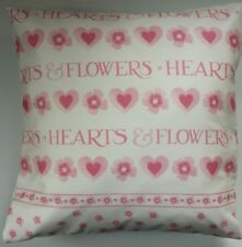 """Shabby Chic Cushion Cover in Emma Bridgewater Pink Love Hearts and Flowers 16"""""""