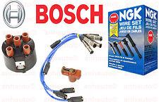Bosch Distributor Cap + Rotor + NGK Wire Set Cabrio Golf Jetta  Cabriolet