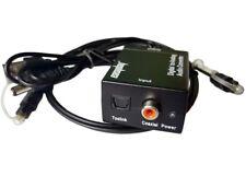 Digital Optical Toslink SPDIF Coax to Analog RCA Audio Converter Adapter US