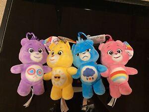 Care Bears Plush Keychains set of 4 Target Bullseye Playground *NWT*