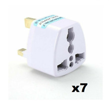 7 x Universal Travel Adapter AU US EU to UK 3 Pin AC Plug Adaptor Connector