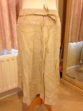 Oasis Crema & Rosa Brillante lino al ginocchio Gonne Donna 10