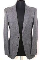 J CREW Ludlow 36 R SLIM Cut Charcoal Herringbone MOON Tweed Sport Coat C8778