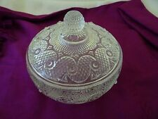 Vintage Avon Clear Glass Footed Candy/Nut Dish W. Lid-Flawless-Elegant