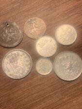 Job Lot 7 Nederland Netherland 1 Silver Gulden 1964 Cents 1904 1971 1975 1976
