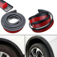2X 4.9ft Carbon Fiber Universal Car Wheel Fender Flares Moulding Protector Lip