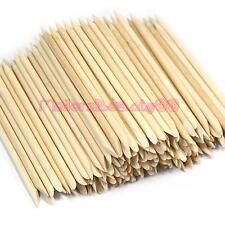 50 Pcs Orange Wood Stick Cuticle Pusher Remover Nail Art Tools