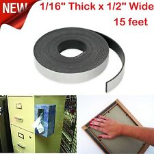 Flexible Roll Adhesive Magnetic Strip Tape 15ft Strong Sticky Backed Heavy Duty