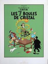 Affiche Sérigraphie Tintin Les 7 Boules de Cristal
