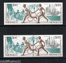 MONACO-TIMBRES NEUFS SE TENANT (1 NON DENTELE) J.O.BARCELONE 92 -Yt.1771/73