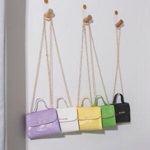 Fashion Quilted Small Crossbody Chain Bag Women Messenger Purse PU Shoulder Bag