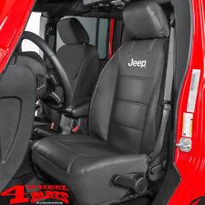 1x Sitzbezug Sitzbezüge vorne schwarz mit Jeep Logo Jeep Wrangler JK TJ 03-18