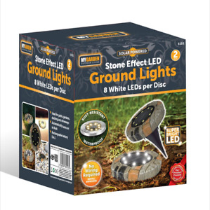 8 LED Solar Power Flat Buried Light In-Ground Lamp Outdoor Path Garden Decor UK