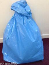 "200 BLUE Heavy Duty 140G Refuse Sacks Bin Bags, 18"" x 29"" x 39"", Made in UK"