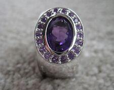 Ring 925 Silber Gr 16 echte hochwertige Amethyst Steine 19 St Entourage NP 82,-