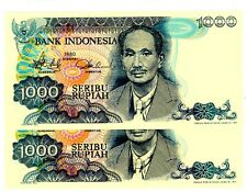 Indonesia ...P-119 ...1000 Rupiah ...1980 ..*UNC*. Consecutive Pair- Replacement