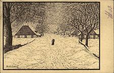 Einsiedel i.B. Künstlerkarte KUnst-AK 1926 Weg in die Einsamkeit Künstler Eiland