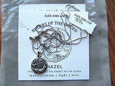 Alex and Ani Ruler of The Woods Hazel Charm Silver Expandable Necklace NWT
