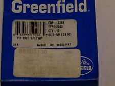 (3) Greenfield 5/16-24  NF H3  TiN bottom hand tap type 2303