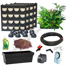 Pack 4 Kits Mur Végétal Flowall Noir avec plantes & arrosage automatique