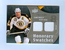 CAM NEELY 2009-10 UD TRILOGY HONORARY SWATCHES DUAL JERSEY BRUINS