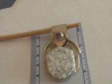 Purple Amethyst/white lace Agate/Jasper Acorn Shaped Silver Pendant NOS