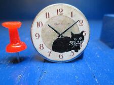 Miniature Cat Wall Clock CK194 Dollhouse