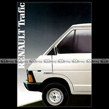 ★ RENAULT TRAFIC ★ Fourgon Utilitaire 1986 - Brochure Catalogue PUB #BA157
