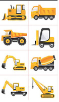 Construction Tattoos x 16 - High Quality - Truck Party Birthday Diggers Favours