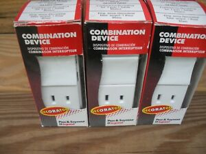 Lot of (5) Pass & Seymour TM818-WCC Combo Switch Receptacle White 15Amp 120Volt