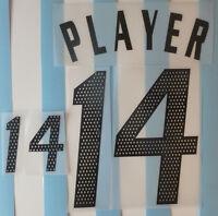 Set Flock Nameset home Trikot jersey shirt Argentinien Argentina 2002