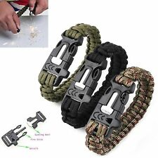 Outdoor Emergency Tactical Survival Parachute Cord Rope Bracelet Wristband