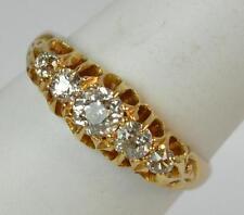 Diamond Yellow Gold Ring Vintage Fine Jewellery