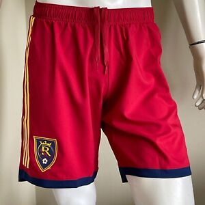ADIDAS RSL Real Salt Lake shorts CLIMALITE lined MLS RED $55 NWTGs MEDIUM