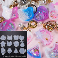 DIY Silicone Mold Resin Jewelry Making Mould Epoxy Pendant Crafts Tools