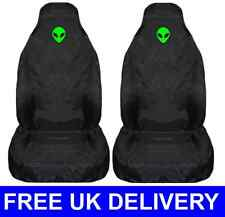 GREEN ALIEN CAR SEAT COVERS PROTECTORS UNIVERSAL FIT - Ufo Area 51 Roswell Space