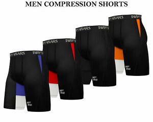 Mens Compression Shorts Base Layer Briefs Pant Thermal Running Gym Fitness Yoga