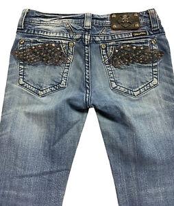 Miss Me Women's Jeans Boot Cut Dark Wash Denim Size 29 (Measures 30x30). 137